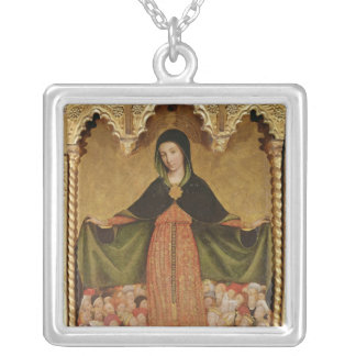Virgin of Misericordia, detail of central Silver Plated Necklace