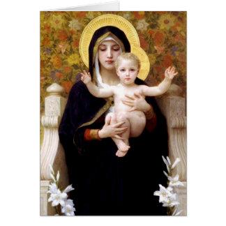 Virgin of the Lilies - Bouguereau Christmas Card