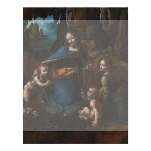 Virgin of the Rocks by Leonardo da Vinci Personalized Flyer