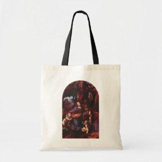 Virgin of the Rocks by Leonardo da Vinci Budget Tote Bag