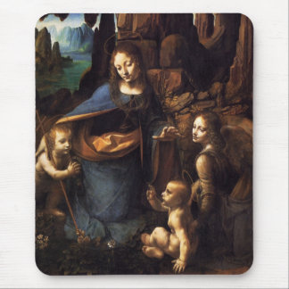 Virgin of the Rocks Mouse Mat