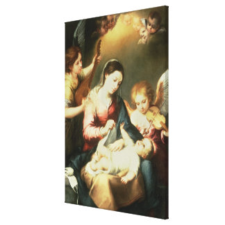 Virgin of the Swaddling Clothes Canvas Print