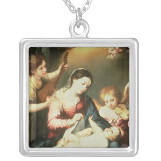 Virgin of the Swaddling Clothes Silver Plated Necklace