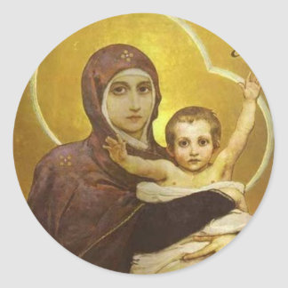 Virgin of Vasnetsov Classic Round Sticker