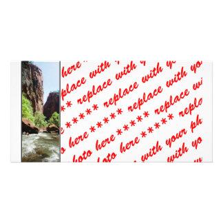 Virgin River At Zion Nat l Park Photo Card Template