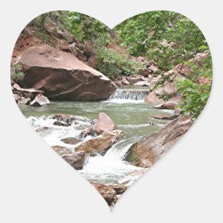 Virgin River, Zion National Park, Utah, USA Heart Sticker