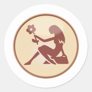 Virgin Round Sticker