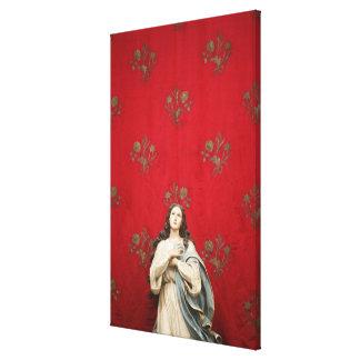 Virgin statue in a Spaccanapoli church, Naples Gallery Wrap Canvas