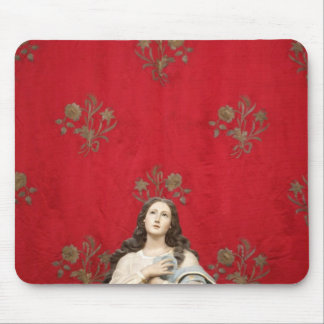 Virgin statue in a Spaccanapoli church, Naples Mouse Mat