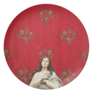 Virgin statue in a Spaccanapoli church, Naples Plate