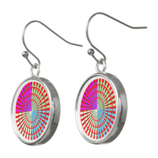 Virgin style Template ADD color photo image text Earrings