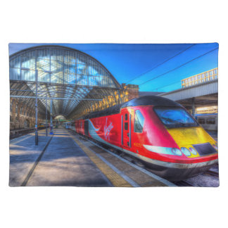 Virgin Train At Kings Cross Station Place Mat