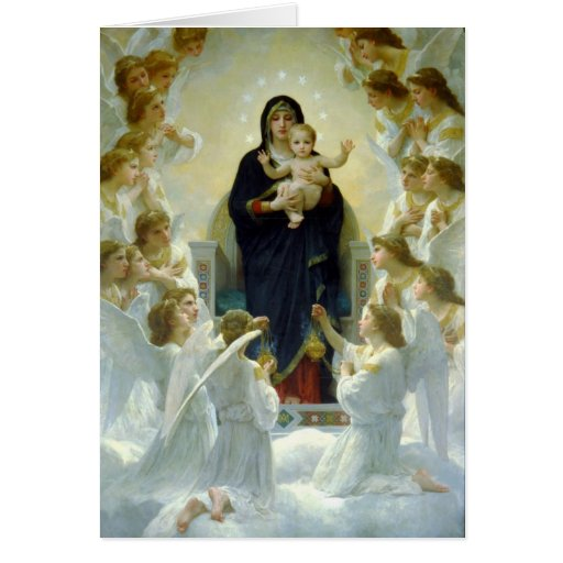 Virgin with Angels - William-Adolphe Bouguereau Cards