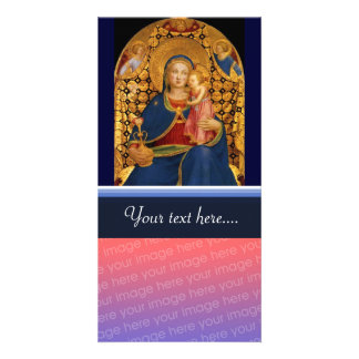 VIRGIN WITH CHILD AND ANGELS 2 PERSONALISED PHOTO CARD
