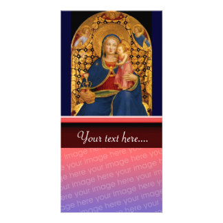 VIRGIN WITH CHILD AND ANGELS 2 PHOTO GREETING CARD