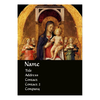 VIRGIN WITH CHILD AND ANGELS ,black Business Cards