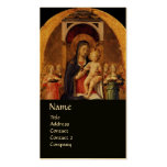 VIRGIN WITH CHILD AND ANGELS ,black gold metallic Pack Of Standard Business Cards