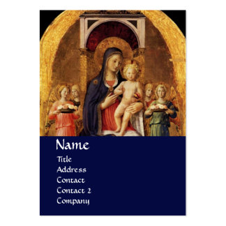 VIRGIN WITH CHILD AND ANGELS ,blue Business Card Templates