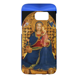 VIRGIN WITH CHILD AND ANGELS ,Blue Sapphire