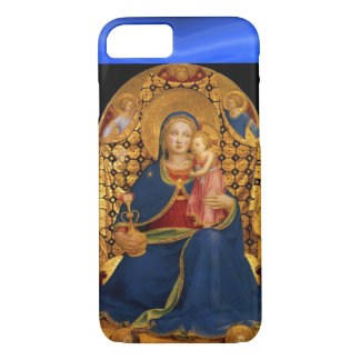 VIRGIN WITH CHILD AND ANGELS ,Blue Sapphire iPhone 7 Case