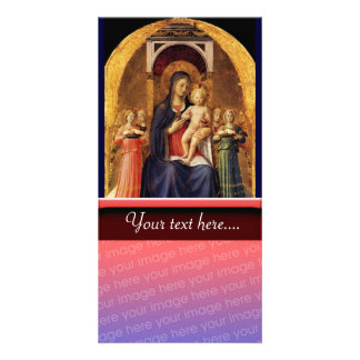 VIRGIN WITH CHILD AND ANGELS CUSTOM PHOTO CARD