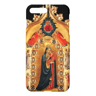 VIRGIN WITH CHILD AND ANGELS GOLD SACRED ART ICON iPhone 7 PLUS CASE