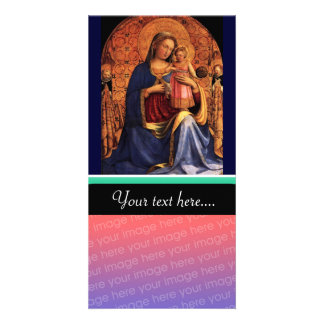 VIRGIN WITH CHILD AND SAINTS 2 PHOTO CARD TEMPLATE
