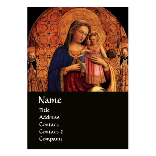 VIRGIN WITH CHILD AND SAINTS ,black Business Card Template