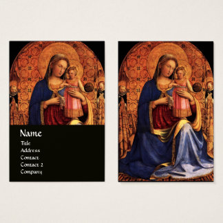VIRGIN WITH CHILD AND SAINTS ,black Business Card
