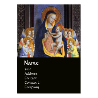VIRGIN WITH CHILD AND SAINTS ,black Business Card Templates