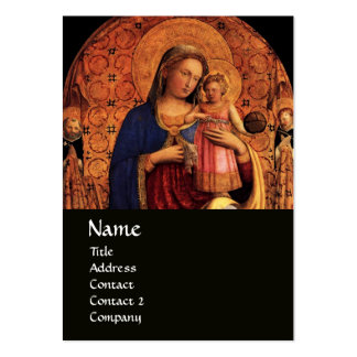 VIRGIN WITH CHILD AND SAINTS ,black Pack Of Chubby Business Cards