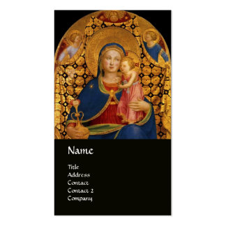 VIRGIN WITH CHILD AND SAINTS ,blue black Business Card Template