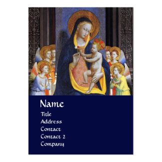 VIRGIN WITH CHILD AND SAINTS , blue Business Card Templates