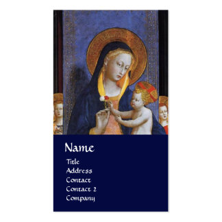 VIRGIN WITH CHILD AND SAINTS ,blue Business Card