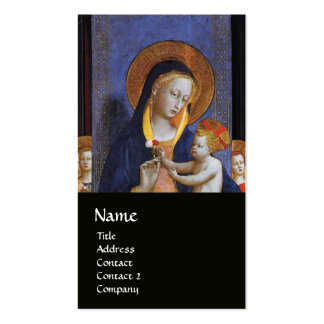 VIRGIN WITH CHILD AND SAINTS BUSINESS CARD TEMPLATES