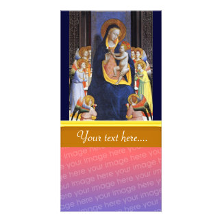 VIRGIN WITH CHILD AND SAINTS PERSONALISED PHOTO CARD