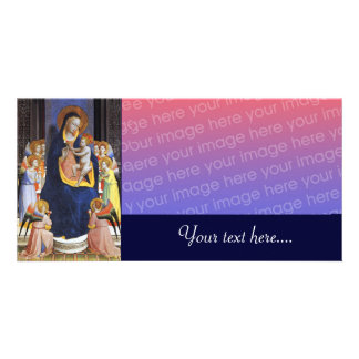 VIRGIN WITH CHILD AND SAINTS PICTURE CARD