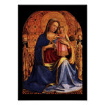 VIRGIN WITH CHILD AND SAINTS POSTER