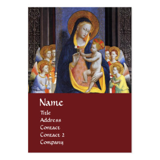 VIRGIN WITH CHILD AND SAINTS ,red Business Cards