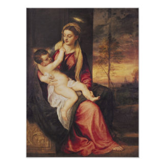 Virgin with Child at Sunset, 1560 Poster