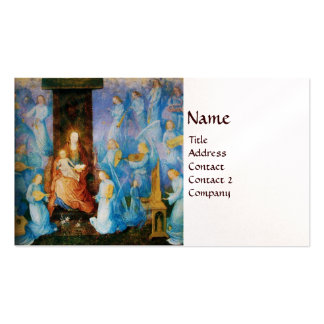 VIRGIN WITH CHILD - CONCERT OF ANGELS pearl paper Business Card Templates