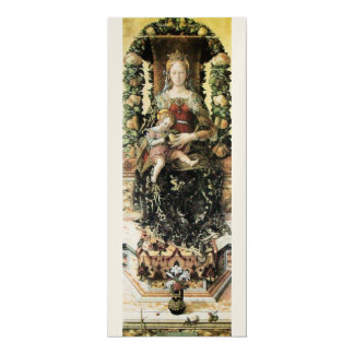 "VIRGIN WITH CHILD Gold Metallic 4"" X 9.25"" Invitation Card"