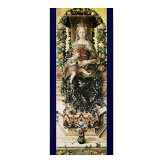 "VIRGIN WITH CHILD 4"" X 9.25"" INVITATION CARD"