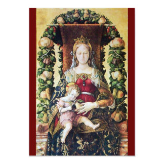 "VIRGIN WITH CHILD red 5"" X 7"" Invitation Card"