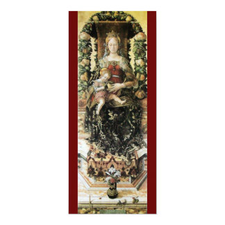 "VIRGIN WITH CHILD red 4"" X 9.25"" Invitation Card"