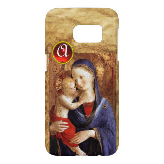 VIRGIN WITH CHILD  Red Ruby Monogram