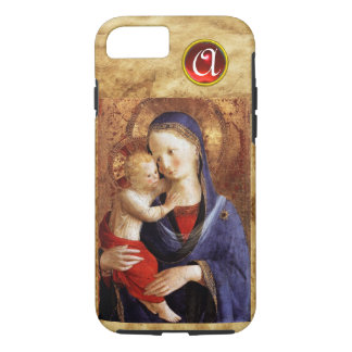 VIRGIN WITH CHILD  Red Ruby Monogram iPhone 7 Case