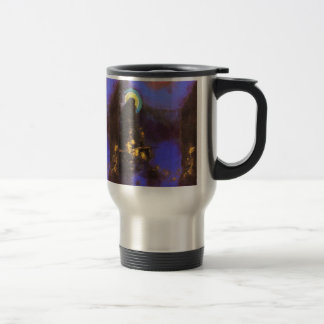 Virgin with Corona: Symbolist Painting by Redon 15 Oz Stainless Steel Travel Mug