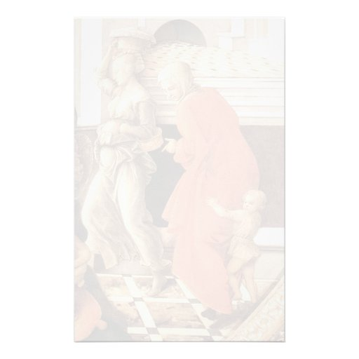 Virgin with the Child and Scenes by Filippo Lippi Stationery Paper