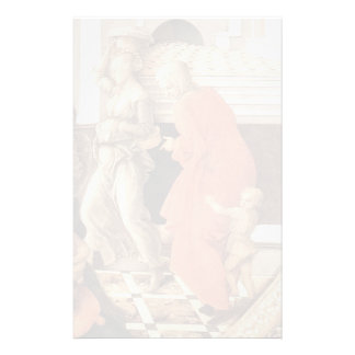 Virgin with the Child and Scenes by Filippo Lippi Custom Stationery
